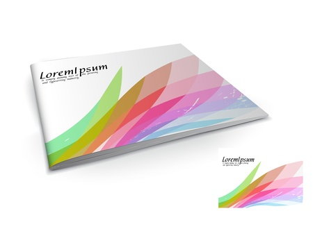 Presentation of brochure cover design template., vector illustartion. Stock Vector - 9610807