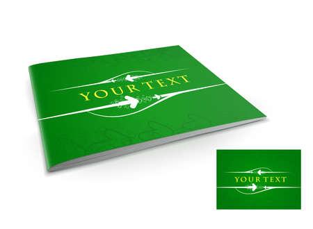 Presentation of brochure cover design template., vector illustartion. Stock Vector - 9610824