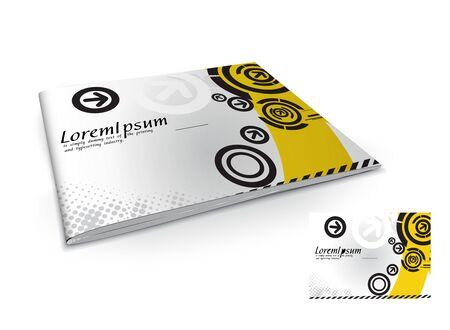pamphlet: Presentation of brochure cover design template., vector illustartion.
