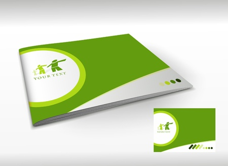 Presentation of brochure cover design template., vector illustartion.  Stock Vector - 9610799