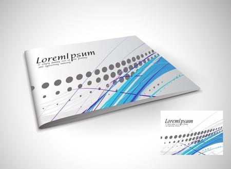 Presentation of brochure cover design template., vector illustartion.  Stock Vector - 9610828