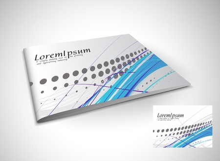 publisher: Presentation of brochure cover design template., vector illustartion.