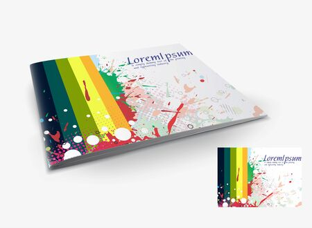 Presentation of brochure cover design template., vector illustartion. Stock Vector - 9610866