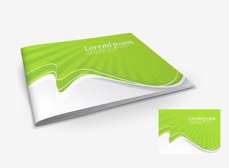 cover book: Presentation of brochure cover design template., vector illustartion.