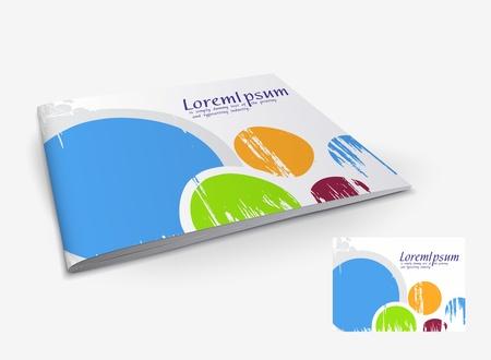 Presentation of brochure cover design template., vector illustartion.  Vector