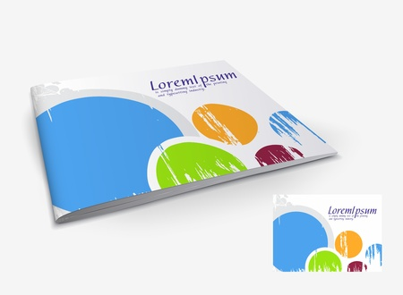 read magazine: Presentation of brochure cover design template., vector illustartion.