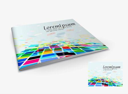 Presentation of brochure cover design template., vector illustartion.  Stock Vector - 9610819