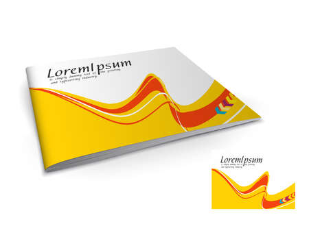 Presentation of brochure cover design template., vector illustartion. Stock Vector - 9610787