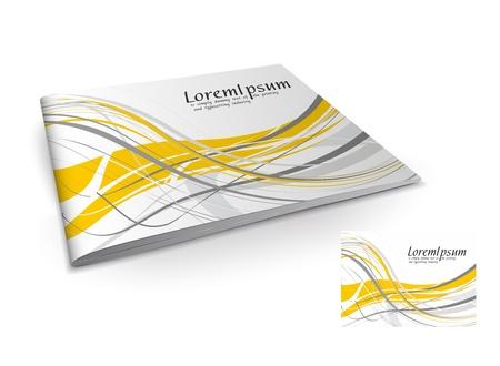 Presentation of brochure cover design template., vector illustartion.  Stock Vector - 9610802