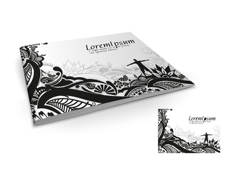 Presentation of brochure cover design template., vector illustartion.  Vector