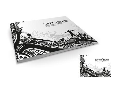 brochure cover design: Presentation of brochure cover design template., vector illustartion.