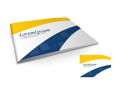Presentation of brochure cover design template., vector illustartion.  Stock Vector - 9610796