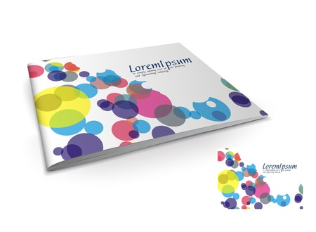 Presentation of brochure cover design template., vector illustartion.  Stock Vector - 9610816