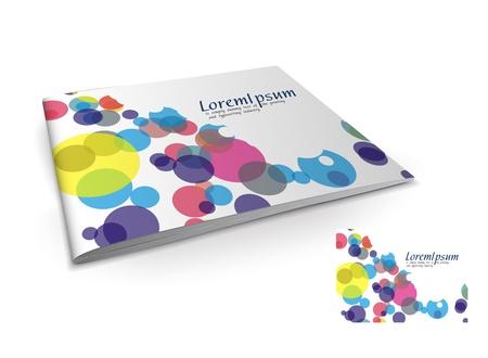 book publisher: Presentation of brochure cover design template., vector illustartion.