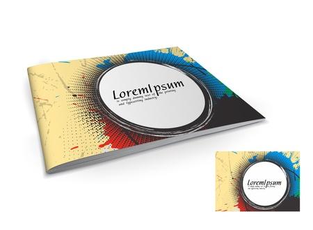 Presentation of brochure cover design template., vector illustartion.  Stock Vector - 9610857