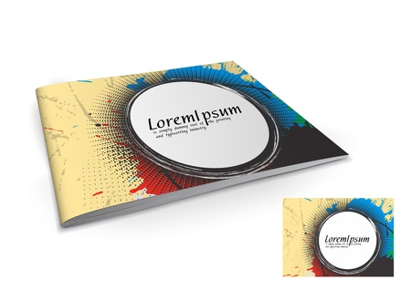 page layout: Presentation of brochure cover design template., vector illustartion.