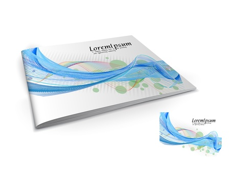 content page: Presentation of brochure cover design template., vector illustartion.
