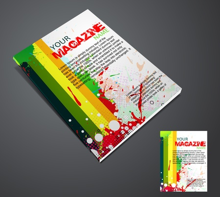 advertise: Magazine layout design template. Vector Illustration