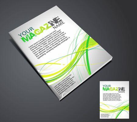 leggere rivista: Modello di progettazione di layout rivista. Illustrazione vettoriale  Vettoriali