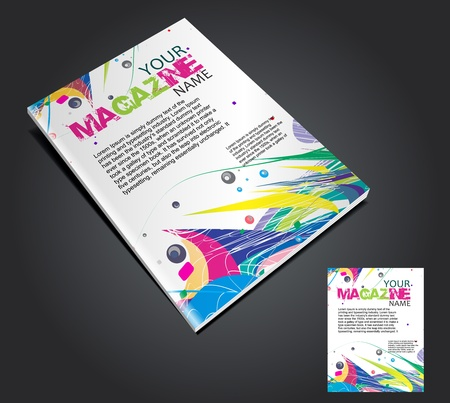 content page: Magazine layout design template. Vector Illustration