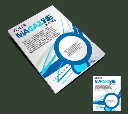 Magazine layout design template. Vector Illustration Stock Vector - 9610811