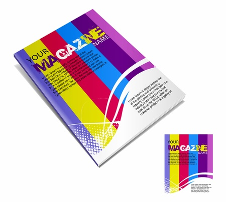 publisher: Magazine layout design template. Vector Illustration