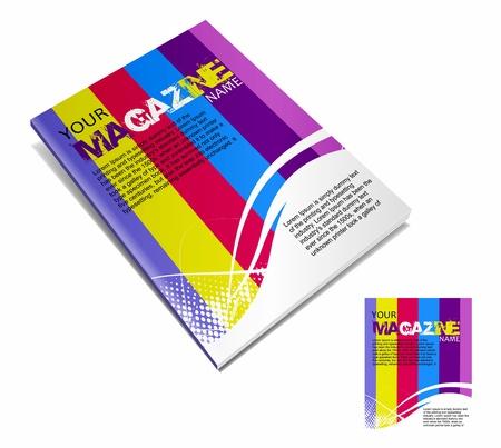 advertise: Magazine layout design template. Vector Illustration