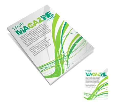 Magazine layout design template. Vector Illustration Stock Vector - 9610809