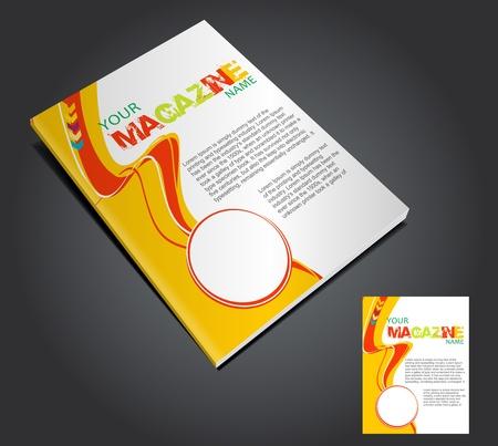 irregular shapes: Plantilla de dise�o de dise�o de la revista. Ilustraci�n vectorial