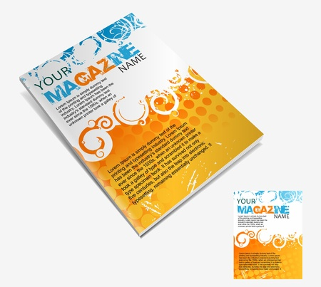 book cover design: Magazine layout design template. Vector Illustration