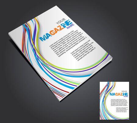 Magazine layout design template. Vector Illustration  Stock Vector - 9610842