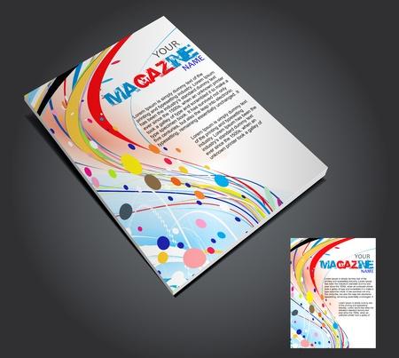 Magazine layout design template. Vector Illustration Stock Vector - 9610869