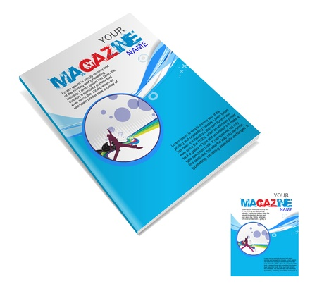 magazin: Magazine layout design template. Vector Illustration