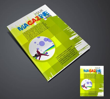 Magazine layout design template. Vector Illustration Stock Vector - 9610858