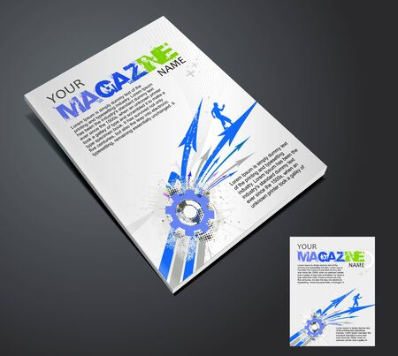 Magazine layout design template. Vector Illustration  Vector