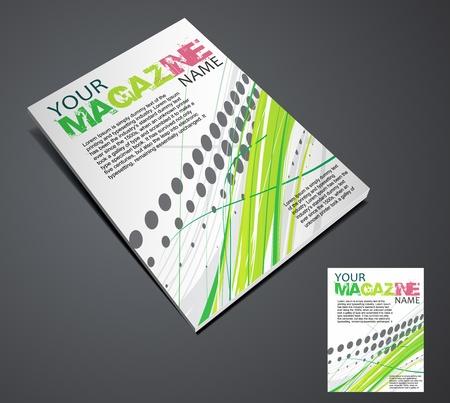 Ontwerpsjabloon tijdschrift lay-out. Vectorillustratie