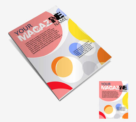 magazine page: Magazine layout design template. Vector Illustration