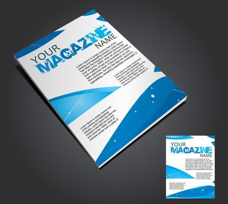 Magazine layout design template. Vector Illustration Stock Vector - 9610867