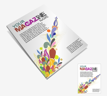 read magazine: Magazine layout design template. Vector Illustration