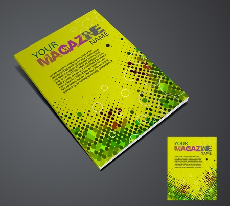 Magazine layout design template. Vector Illustration Stock Vector - 9610833