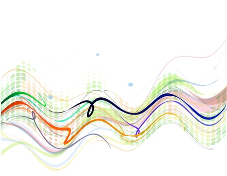 Abstract wave background illustration. Vector