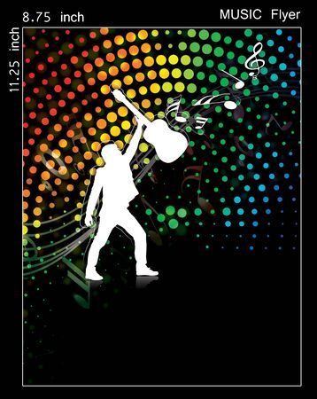 Illustration on a music flyer/poster design. Stock Illustration - 9992258