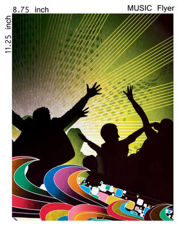 Illustration on a music flyer/poster design. Stock Illustration - 9992297
