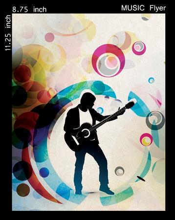 Illustration on a music flyer/poster design. Stock Illustration - 9992279