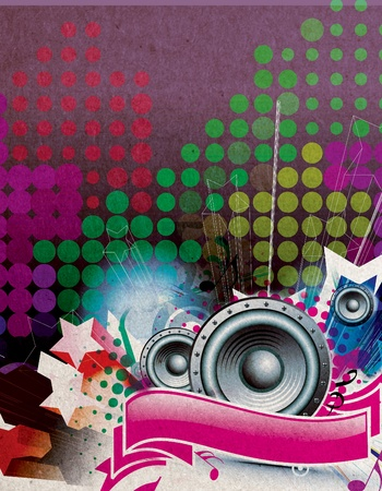 Illustration on a music flyer/poster design. Stock Illustration - 9992287