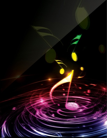 Illustration on a music flyerposter design. illustration