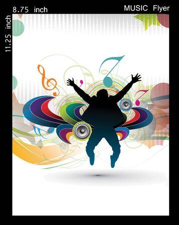 Illustration on a music party flyerposter design. illustration