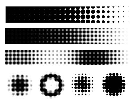 halftone: Grunge style elements set - vector