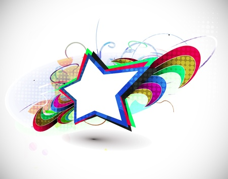 abstract colorful explode with stars vector illustration design Stock Vector - 9992254