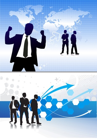 Success business people, conceptual business illustration.  Vector